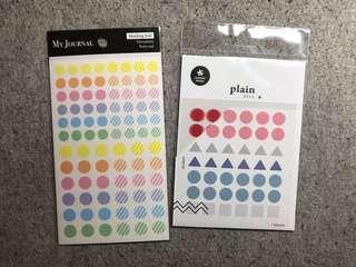 Bujo Circle Stickers