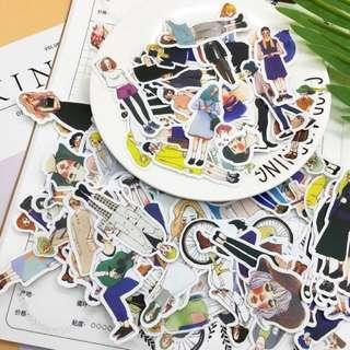 20pcs Fashion Girls Travel Planner Scrapbook Stickers Stationery