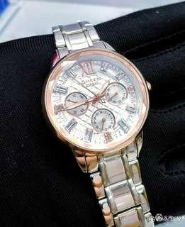 f38d2929e5e FREE DELIVERY   Brand New 100% Authentic Casio Sheen Rose Gold Bezel Lady s  Dress