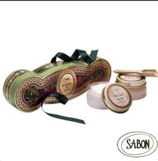 Sabon玫瑰茶語磨砂膏和乳液組合(此商品免運711店到店
