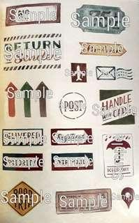 Typography Graphic Stickers V