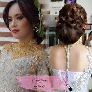 Make up wedding hair do & hijab /dewipuspa MUA