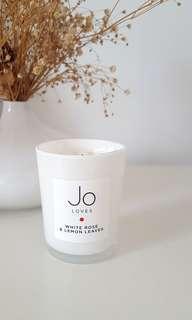 Jo Loves White Rose & Lemon Leaves Candle 70g #50TXT
