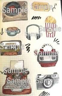 Retro Graphic Stickers