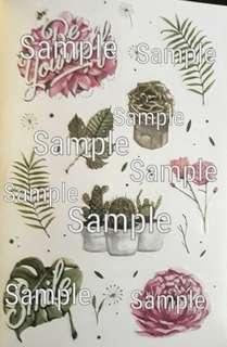 Flowers and Plants Graphic Stickers
