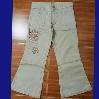 10-12 girls khaki flare pants