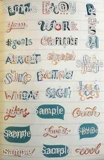 Typography Graphic Stickers VII
