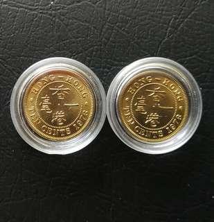 1978 伊利沙伯二世10¢硬幣2枚