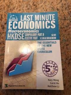 Last Minute Economics Macroeconomics