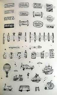 Typography Graphic Stickers VIII