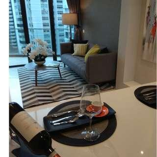 Uniquely crafted Italian Architectural design, freehold 2 bedrooms loft just TOP and also besides the Future MRT