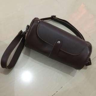 Korean-style Duffle Small Leather Bag