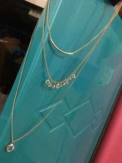 Jewelry Layered Necklace Gold/Clear by Forever 21