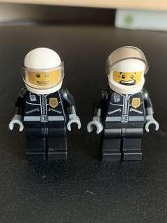 Lego 人仔 police 交通警一對
