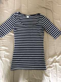 H&M Fitted Striped Top