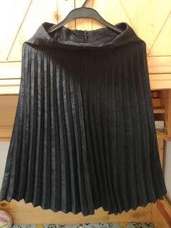 黑色薄絨裙
