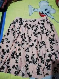 Bawahan skirt flower peach