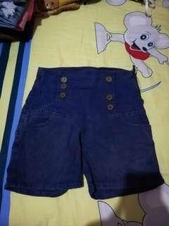 High waist pants blue