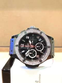 Brand New Hublot Big Bang 341.SX.130.RX.114 Black Dial Automatic Steel Casing Rubber