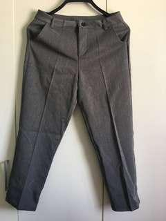 Grey Narrow Formal Pants