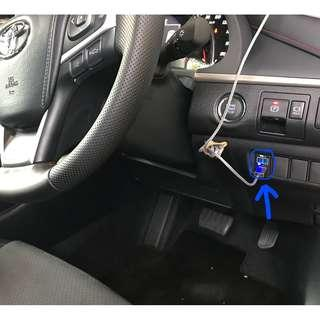 Toyota Harrier Sienta Wish Estima Previa car Voltage + USB charger, 3 different models to select from (read description)