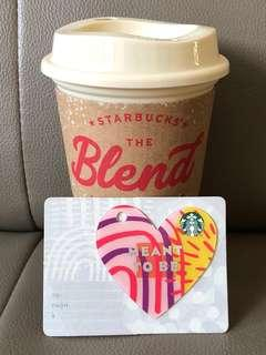 Starbucks reusable cup and Valentine Card