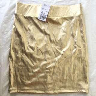 FOREVER 21 Gold Skirt