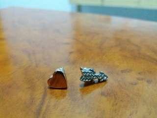 Earrings (rose gold & silver)