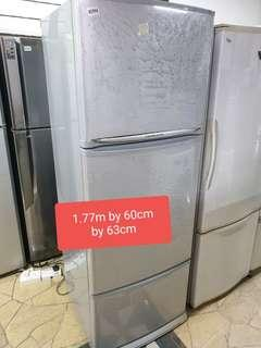 🚚 Used mitsubishi 3 door 385 litres fridge with free delivery and installation
