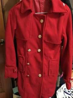 🚚 紅毛呢大衣