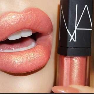 (全新 Brand New🎉 )Nars Lip Orgasm Gloss ( peachy pink with shimmer )高潮唇彩 彩光蜜桃粉色