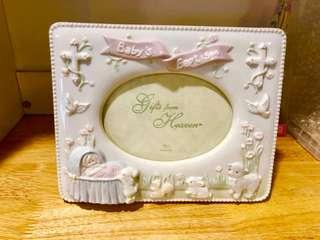 Baby Baptism Photo Frame (for 4x5 prints)