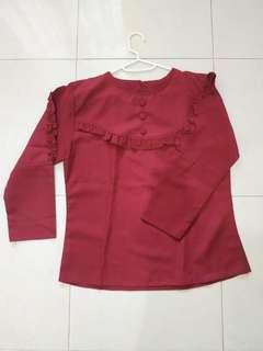 Red Blouse /  ATASAN BLOUSE MERAH WANITA