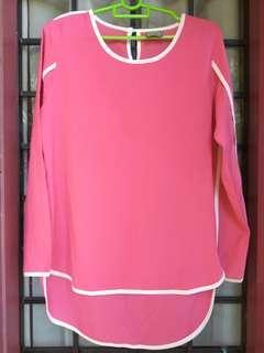 Pink Chiffon Blouse #MMAR18 #50TXT