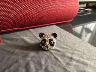 Panda Ring - 熊貓閃石介指