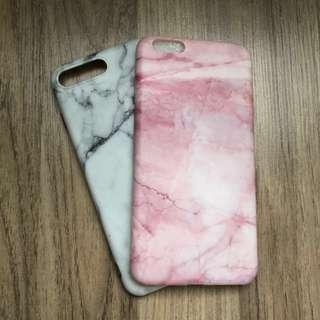 Iphone 8 Plus Marble SOFT Case ( PINK )