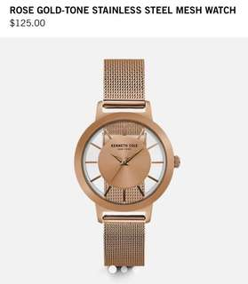 9ec5064341ea2 ORIGINALLY PRICED PHP 5,500 — Kenneth Cole Rose Gold-Tone Stainless Steel  Mesh Watch