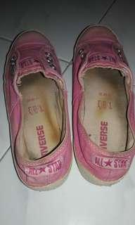 DIJUAL Sepatu Slip anak Perempuan PINK CONVERSE ukuran 35