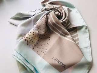 Nunaya Mint Square Hijab