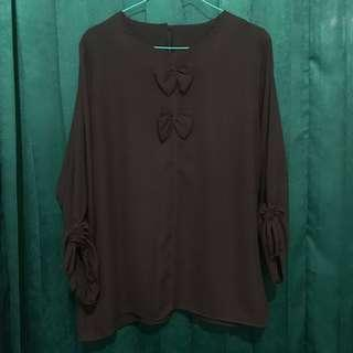 Chocolate Ribbon Blouse