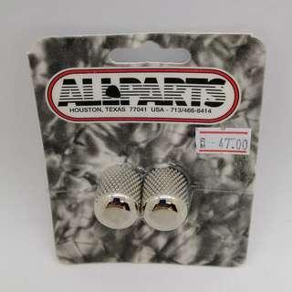 Guitar Metal Dome Knobs (Nickel)