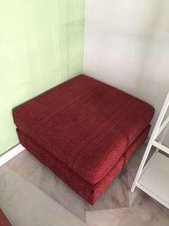 Sofa fabric square seater + table