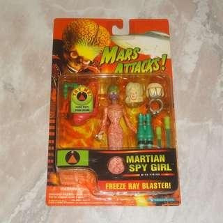 Mars Attacks Martian Spy Girl Action Figure 1996 With Sound Tim Burton