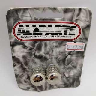Guitar Short Metal Dome Knobs (Nickel)