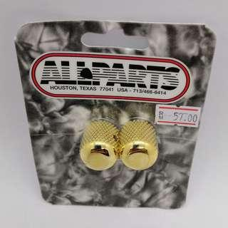 Guitar Metal Dome Knobs (Gold)