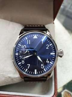 No name watch blue dial 44mm