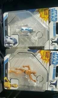 Star war key chain C-3PO and R2-D2