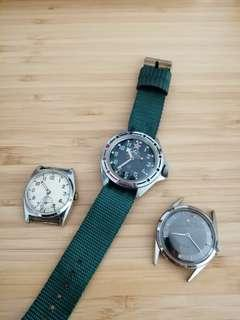 Vintage Watch Lot for Repair. Price is for all 3 items. Running