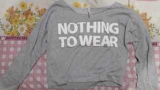 Baju sweater atasan crop top sweatshirt