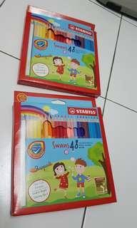 Stabilo Swans 48 coloured pencils × 2